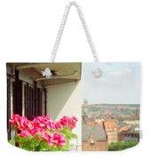 Flowers On The Balcony Weekender Tote Bag by Jeff Kolker