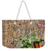 Flowers On Wall - Taromina Weekender Tote Bag