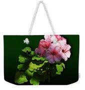 Flowers - Pale Pink Geranium Weekender Tote Bag