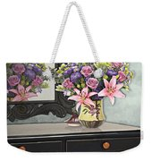 Flowers Table And Mirror In The Foyer Still Life Weekender Tote Bag