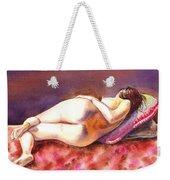 Flowing Lines Reclining Nude Weekender Tote Bag