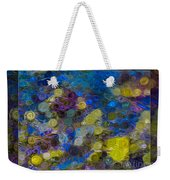 Flowing River Water And Rocks Colorful Abstract Painting Weekender Tote Bag