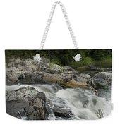 Flowing Stream With Waterfall In Vermont Weekender Tote Bag