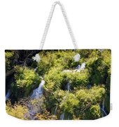 Flowing Water On Falling Lakes Of Plitvice Weekender Tote Bag