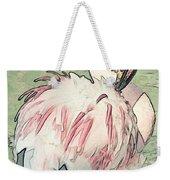 Fluffing Flamingo  Weekender Tote Bag