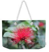 Fluffy Pink Flower Weekender Tote Bag