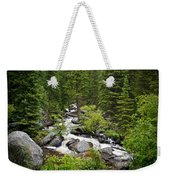 Fluid Motion - Crazy Woman Canyon - Crazy Woman Creek - Johnson County - Wyoming Weekender Tote Bag