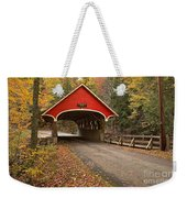 Flume Gorge Covered Bridge Fall Colors Weekender Tote Bag