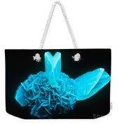 Fluorescing Selenite Gypsum Weekender Tote Bag
