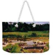 Fluvial Landscape Weekender Tote Bag