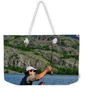 Fly Fishing In Patagonia Weekender Tote Bag