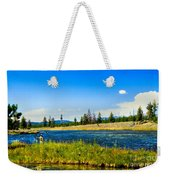 Fly Fishing In Yellowstone Weekender Tote Bag