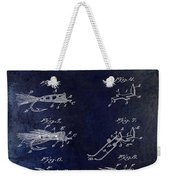 1922 Fly Fishing Lure Blue Weekender Tote Bag
