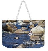 Fly Fishing On Mountain River Weekender Tote Bag