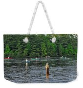 Fly Fishing West Penobscot River Maine Weekender Tote Bag