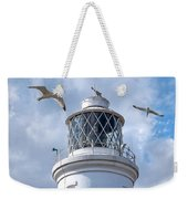 Fly Past - Seagulls Round Southwold Lighthouse - Square Weekender Tote Bag