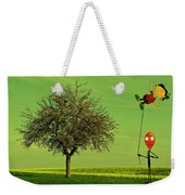 Flying A Balloon In A Parallel Universe Weekender Tote Bag