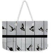 Flying Bird Weekender Tote Bag by Eadweard Muybridge