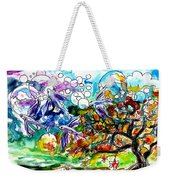 Flying Fish Tree And Bubbles Weekender Tote Bag