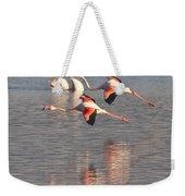 Flying Flamingos Weekender Tote Bag
