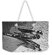 Flying Lady Hood Ornament In B And W Weekender Tote Bag