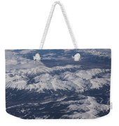 Flying Over The Snow Covered Rocky Mountains Weekender Tote Bag