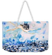 Flying Over Troubled Waters Weekender Tote Bag