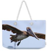 Flying Pelican Panorama Weekender Tote Bag