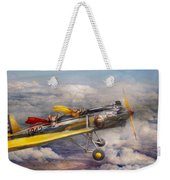Flying Pig - Plane - The Joy Ride Weekender Tote Bag by Mike Savad