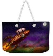 Flying Pig - Rocket - To The Moon Or Bust Weekender Tote Bag