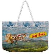 Flying Pigs - Plane - Eat Beef Weekender Tote Bag