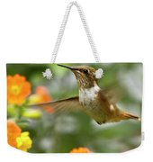 Flying Scintillant Hummingbird Weekender Tote Bag