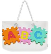 Foam Alphabet Shapes Weekender Tote Bag
