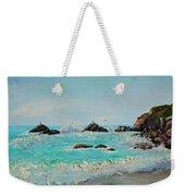 Foamy Ocean Waves And Sandy Shore Weekender Tote Bag