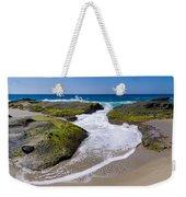 Wave Receding Weekender Tote Bag