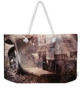 Fog And Rust Weekender Tote Bag