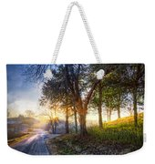 Fog At The Farm Weekender Tote Bag