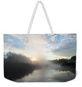 Fog Covered River Weekender Tote Bag