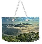 Fog In The Grand View Valley Weekender Tote Bag