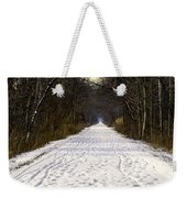Fog On The Winter Macomb Orchard Trail Weekender Tote Bag