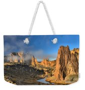 Fog Over Smith Rock Weekender Tote Bag