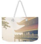 Foggy At The Reading Pagoda Weekender Tote Bag