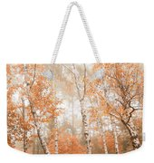 Foggy Autumn Aspens Weekender Tote Bag