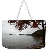 Foggy Autumn Day Weekender Tote Bag
