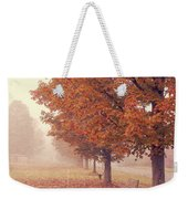 Foggy Autumn Morning Etna New Hampshire Weekender Tote Bag