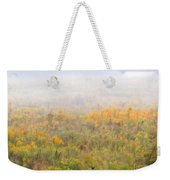Foggy Country Autumn Morning Weekender Tote Bag