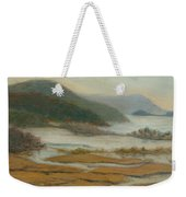 Foggy Day At Constitution Marsh Weekender Tote Bag