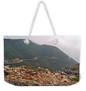 Foggy Day Road Through Cape Breton Highlands Np-ns Weekender Tote Bag