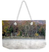 Foggy Fall On Maryland Towpath Weekender Tote Bag