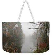 Foggy Fall River Weekender Tote Bag